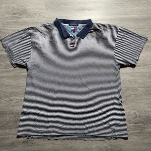 90s Tommy Hilfiger Striped Polo Center Swoosh XL